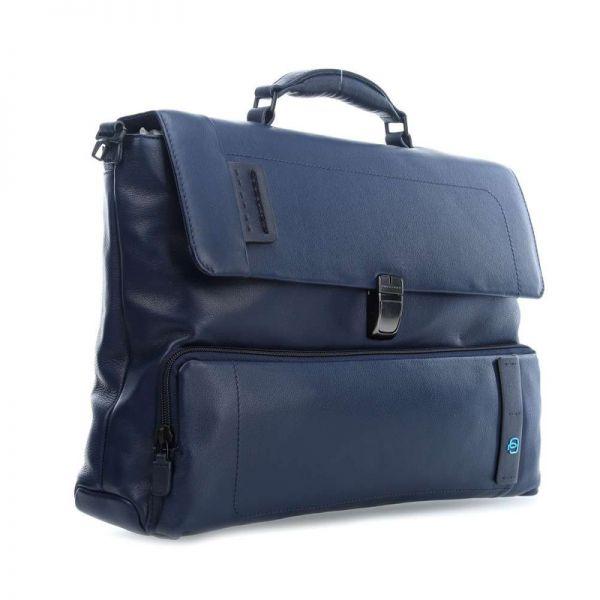Елегантна, бизнес чанта за лаптоп Piquadro, кафява