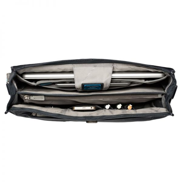 Vibe Computer briefcase with two compartments darkbown CA1045VI-TM
