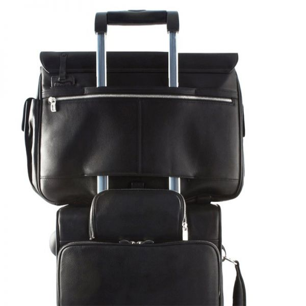 Хоризонтална бизнес чанта Piquadro с три отделения