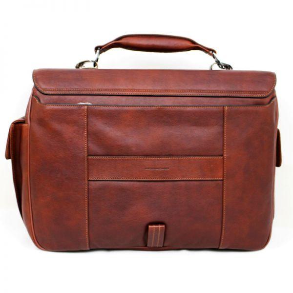 Хоризонтална бизнес чанта Piquadro с две отделения