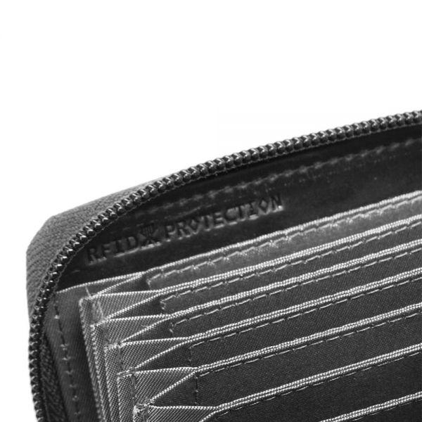 Калъф за кредитни карти Bugatti PERFO, естествена кожа, кафяв