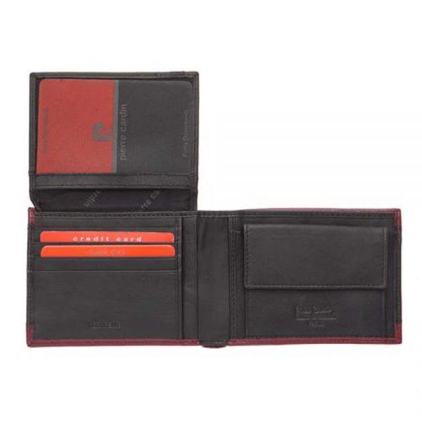 Мъжки портфейл Pierre Cardin, с червена черта