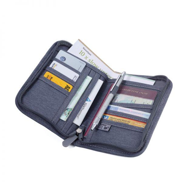Калъф за кредитни карти и документи Troika - SAFE TRIP KÄFER, тъмносин