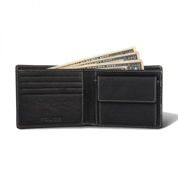 Мъжки портфейл и колан Police Hot Shots, черен