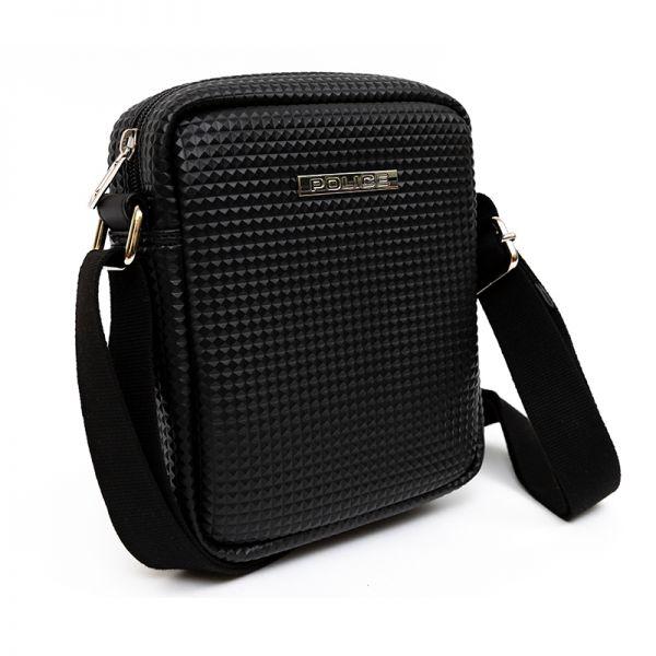 Малка мъжка чанта за рамо Police Pyramid, черна