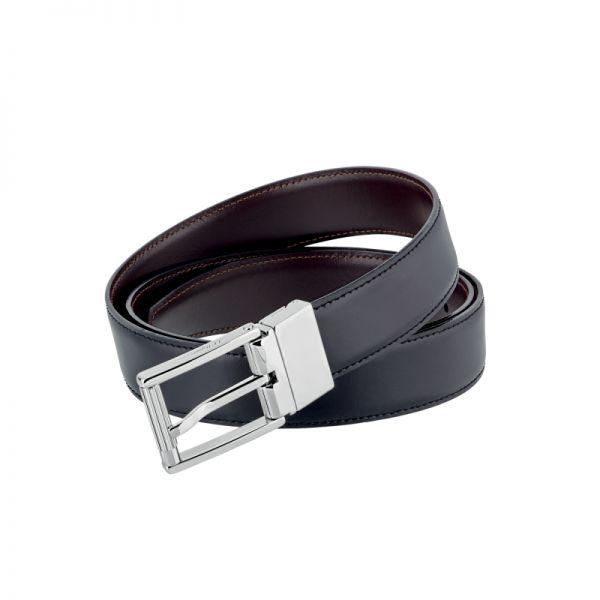 Мъжки колан Palladium and leather finish reversible Business belt