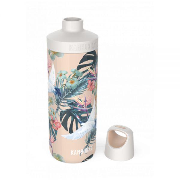 Бутилка за вода двустенна Kambukka Reno Insulated с капак 2 в 1 Twist, 300 мл, палми