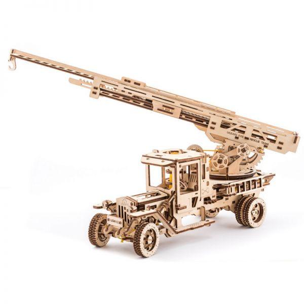 Механичен 3D пъзел - Камион – Пожарна