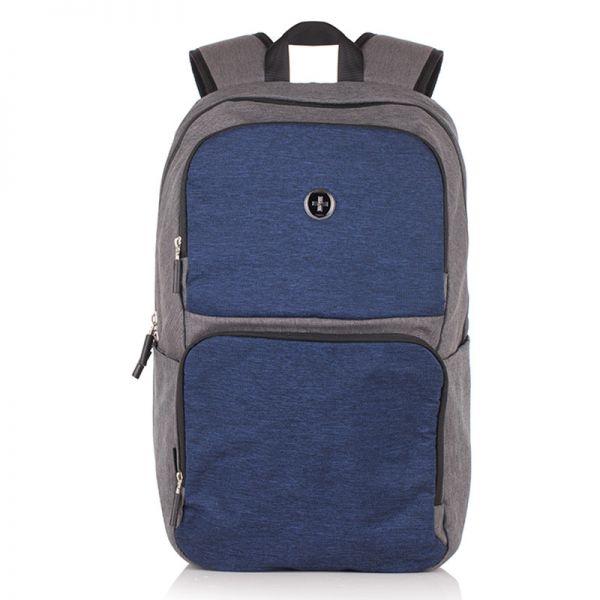 Раница Swissdigital, синьо със сиво