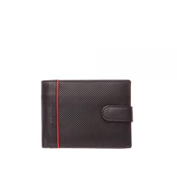 Мъжки портфейл в кафяво SILVER FLAME, колекция Button