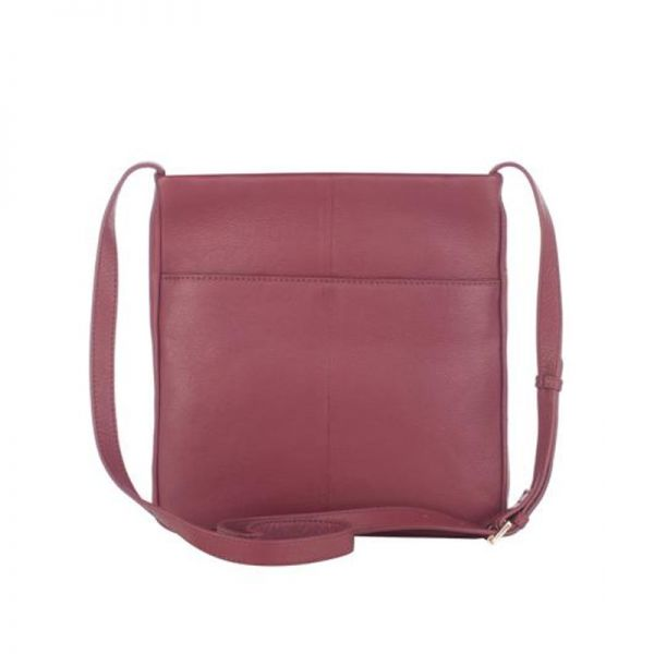Сива дамска чанта ROSSI, от естествена кожа