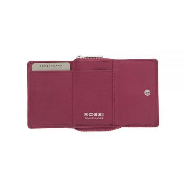 Компактно дамско портмоне ROSSI, тъмнозелен