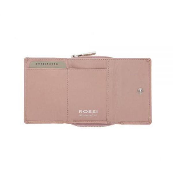 Компактно дамско портмоне ROSSI, малина