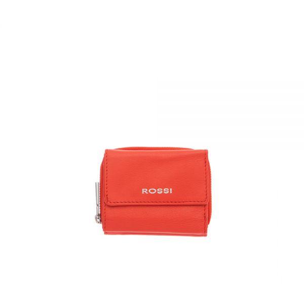 Компактно дамско портмоне ROSSI, жълто