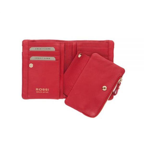 Компактно дамско портмоне ROSSI, оранжево