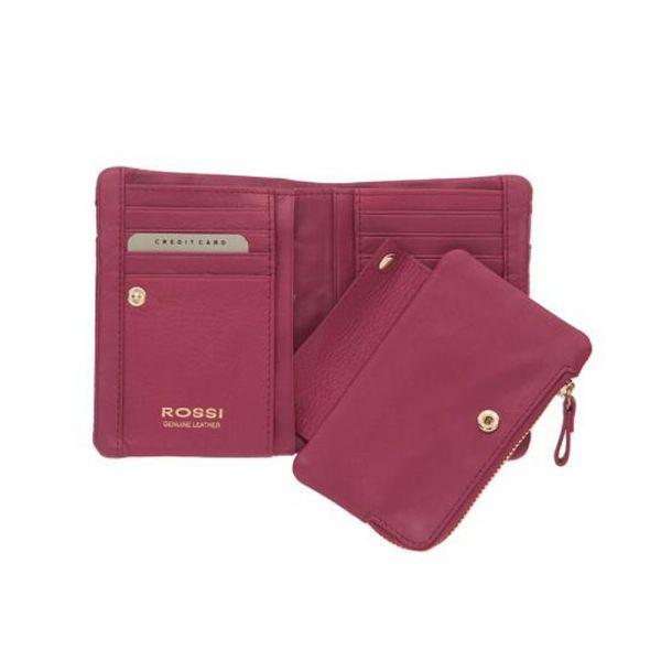 Наситено червен дамски портфейл ROSSI