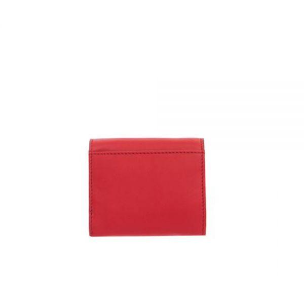 Дамско портмоне ROSSI, винено червено и розово
