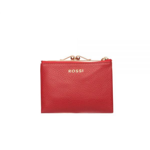 Дамско портмоне ROSSI, черно и винено червено