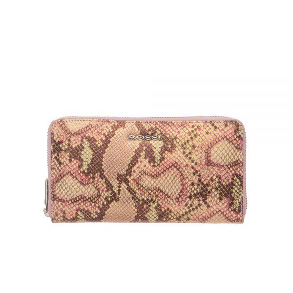 Дамско портмоне ROSSI, Pink Python