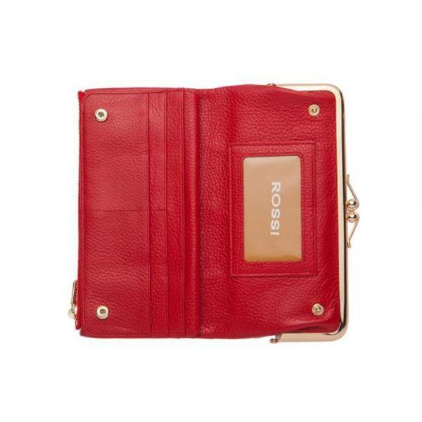 Розово дамско портмоне ROSSI, със златисти елементи