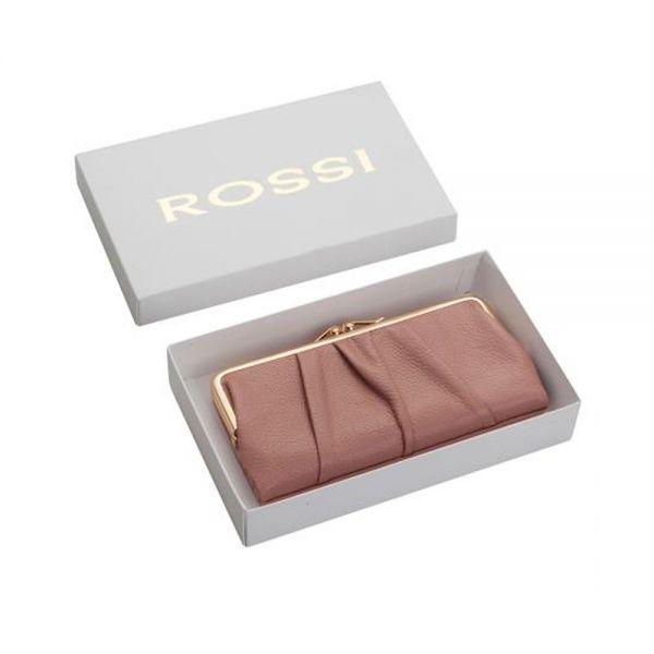 Червено дамско портмоне ROSSI, със златисти елементи