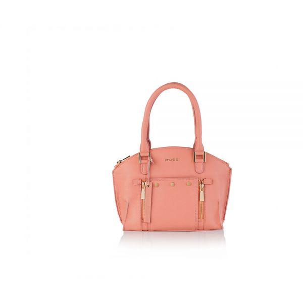 Дамска чанта с ципове ROSSI, бежoвa
