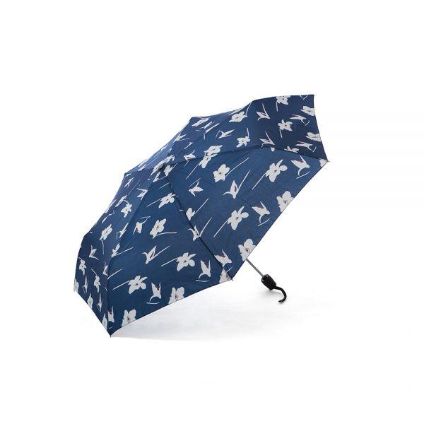 Сив дамски чадър Pierre Cardin, с орхидея