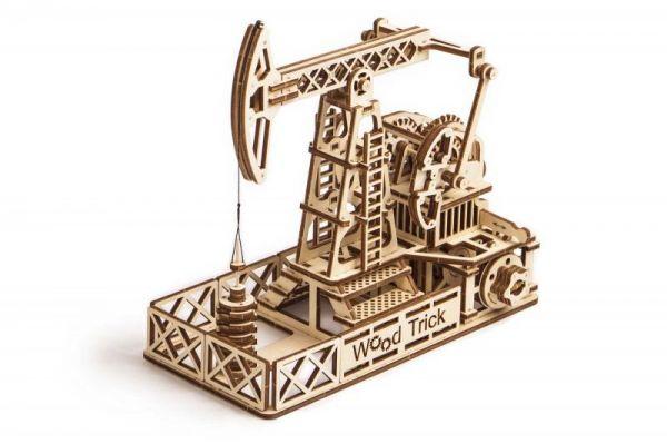 Механичен 3D пъзел Wood Trick - Петролна сонда, 194 части