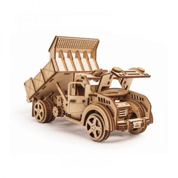 Механичен 3D пъзел Wood Trick - Камион, 216 части