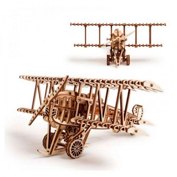 Механичен 3D пъзел Wood Trick - Самолет, 162 части