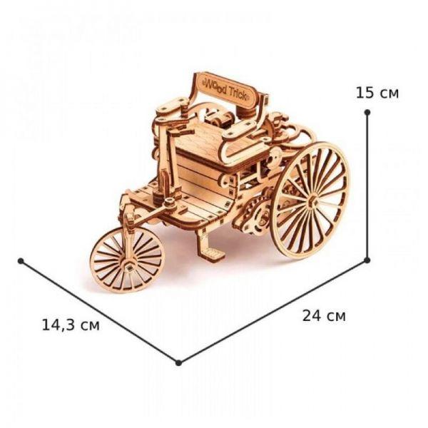 Механичен 3D пъзел Wood Trick - Първата кола, 152 части