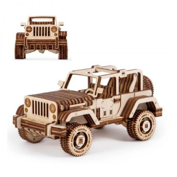 Механичен 3D пъзел Wood Trick - Сафари джип, 126 части
