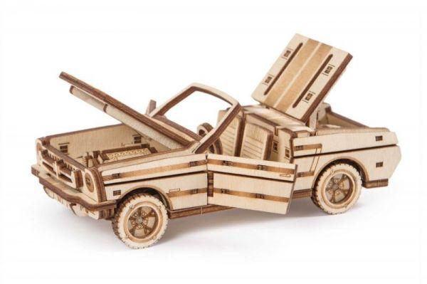 Механичен 3D пъзел Wood Trick - Кабриолет, 110 части