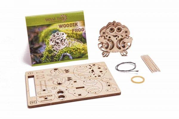 Механичен 3D пъзел Wood Trick - Жаба, 11 части