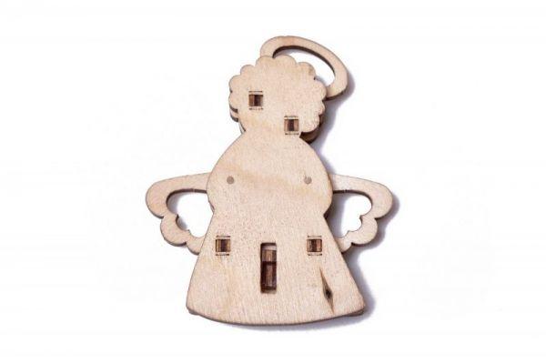 Механичен 3D пъзел Wood Trick - Ангел, 10 части