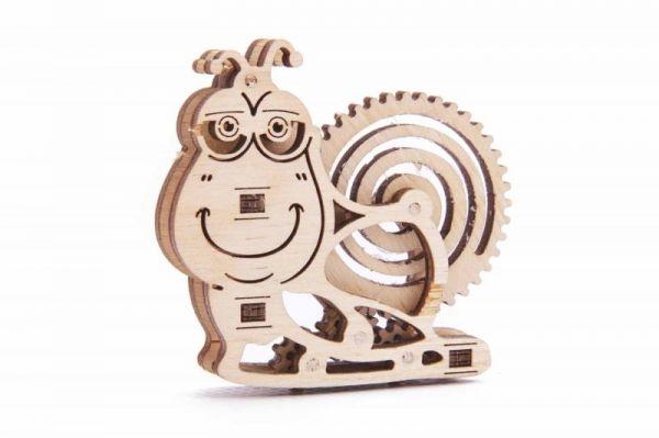 Механичен 3D пъзел Wood Trick - Охлюв, 15 части