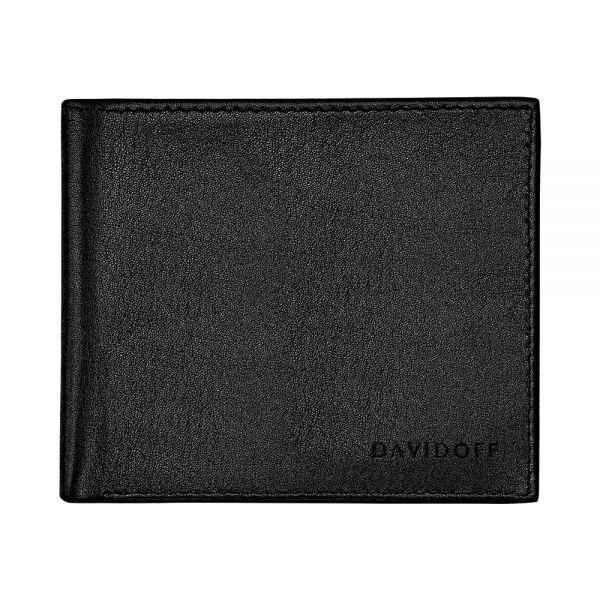 Портфейл DAVIDOFF - Essentials, 8 отделения за карти, черен