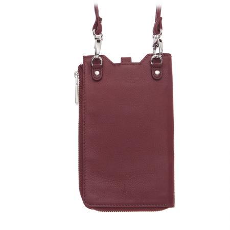 Калъф за смартфон Rossi, тип чанта, с цип, бордо