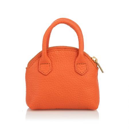 Портмоне ключодържател Rossi - кожено, оранжево