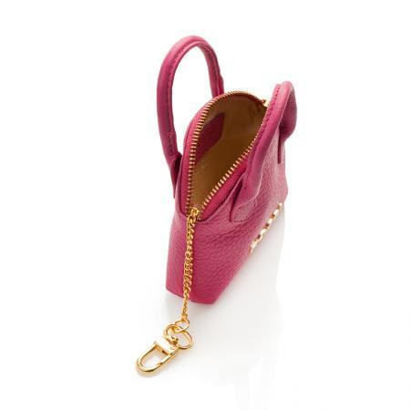 Портмоне ключодържател Rossi - кожено, розово