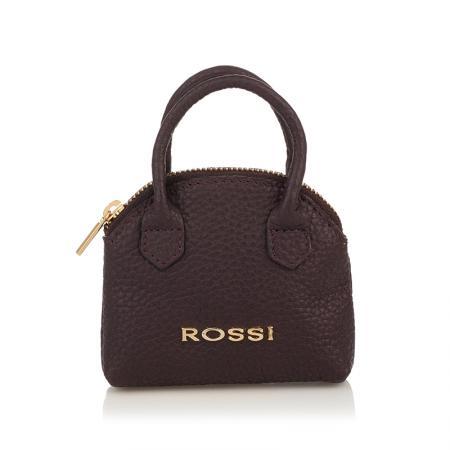 Портмоне ключодържател Rossi - кожено, тъмнокафяво