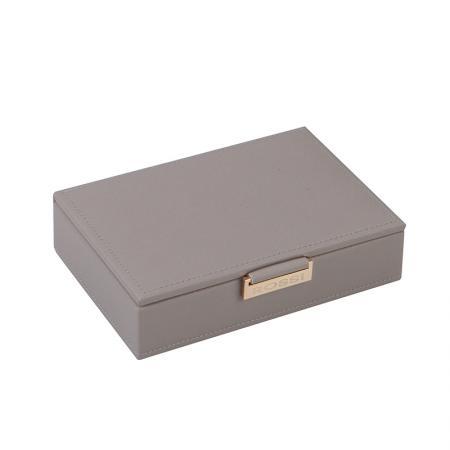 Кутия за бижута Rossi, дърво и еко кожа, сива
