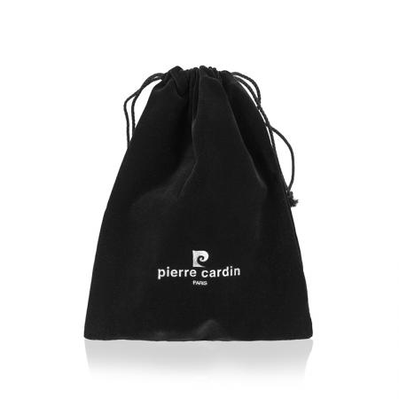Мъжки колан Pierre Cardin, телешка кожа, черен