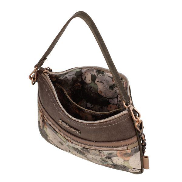 Дамска чанта Anekke - Universe, с цип, кафява