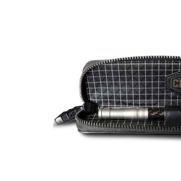Химикала Coldfire от Титан и Карбон, Titanium Tactical Pen в луксозна карбонова кутия