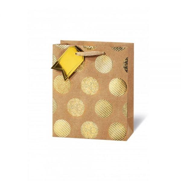 Подаръчен плик GOLDEN DOTS 23 x 19 x 9 см