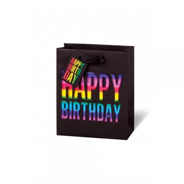 Подаръчен плик Happy Birthday Rainbow 23 x 19 x 9 см