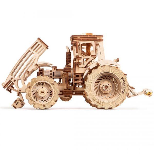 Механичен 3D пъзел Wood Trick - Трактор, 401 части