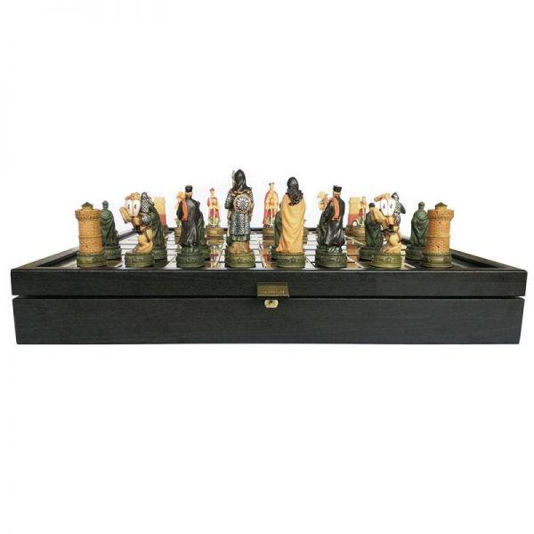 Луксозен шах Manopoulos - Гръцко - Римска война, 34x34 см