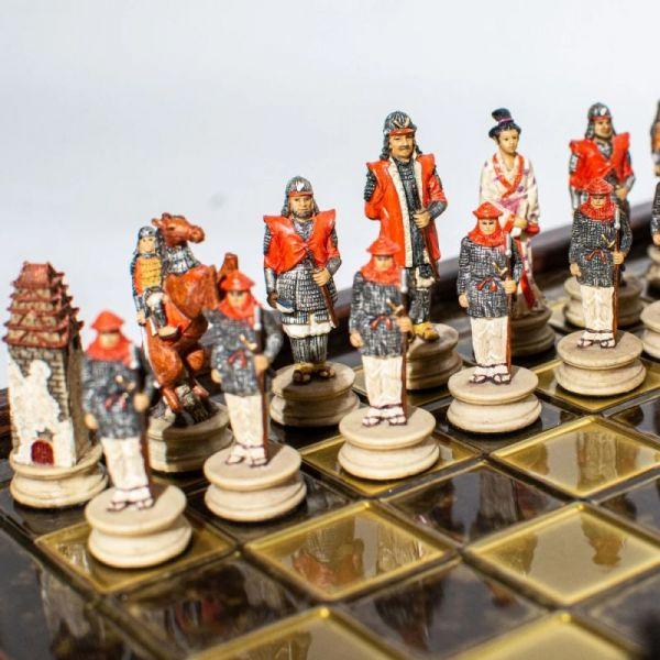 Луксозен шах Manopoulos - Войната на самураите 26x26 см